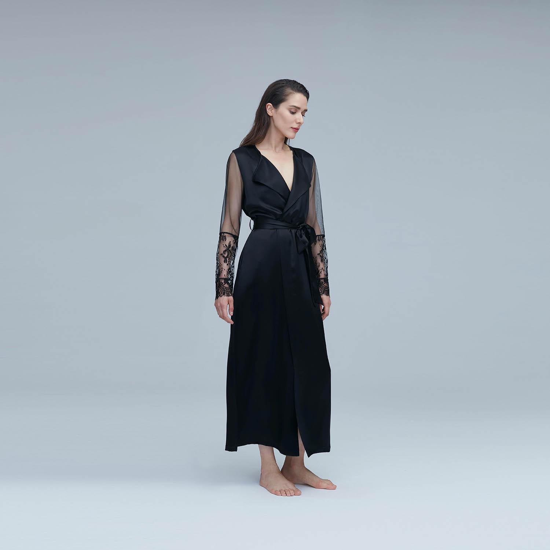 Malena蕾丝长睡袍