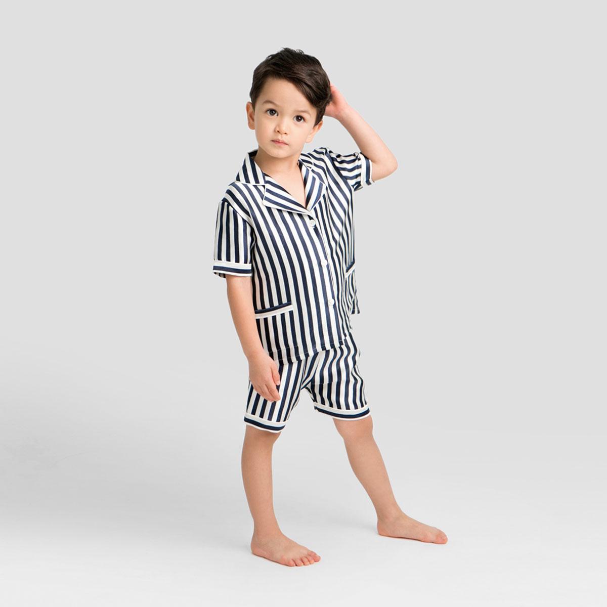 Stripe婴童睡衣短套装
