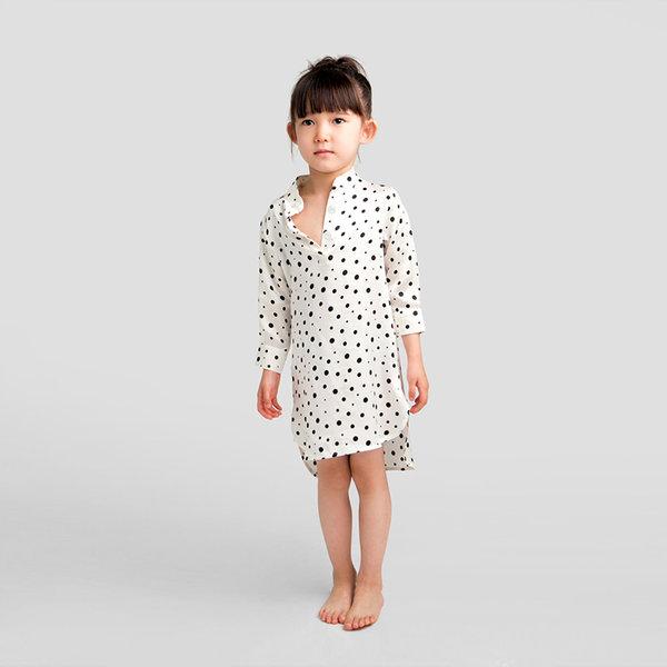Polka Dots婴童小立领睡衣
