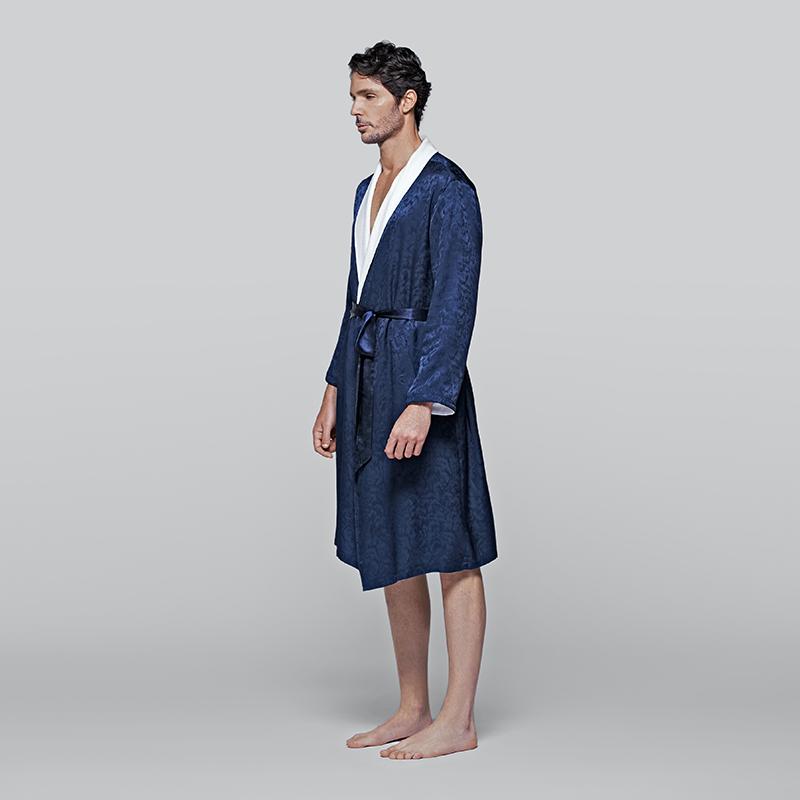 Plumage Silk Terry睡袍