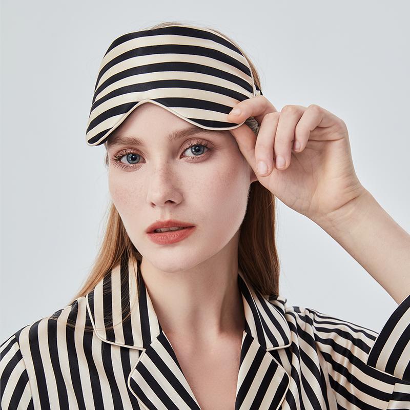 Stripe蚕丝眼罩